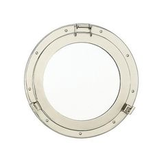 "Nantucket Brand's 15"" Nickel Porthole Mirror is the perfect addition to your nautical decor accent in any room of the house.  Beautiful and affordable at only $80.  PLUS... new customers receive 20% off!"