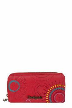 Desigual women's Maria Margarita purse with zip fastening. Clutch Purse, Margarita, Women's Accessories, Zip Around Wallet, Purses, Clothes For Women, Clutches, Shopping, Feminine Fashion