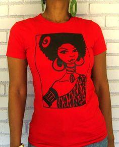 """The """"Sassy Nzinga"""" Crew Neck in Red"""