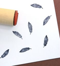 Feather Rubber Stamp.