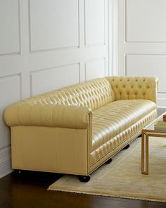 """Zerenity 93""""L Leather Chesterfield Sofa  so so beautiful for $5000+"""