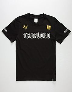 ADIDAS x TRAPLORD Mens T-Shirt Black Striped Tee 50b4ff27d
