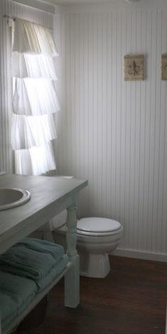 Curtain DIY for bathroom.