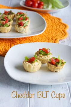 Cheddar BLT Cups a perfect appetizer recipe for your holiday dinner party or New Year's Eve celebration.