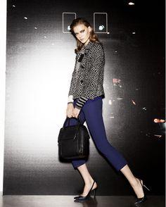 jacket Pinicio, knit Super, trousers Zaffiro, bag Loira, pumps Egoista