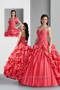 Spice up your big event in a dramatic way with this phenomenal Da Vinci strapless ball gown! A decadently ruffled overlay sweeps down over the flared skirt to inject extra panache. The form-fitting sweetheart bodice is bolstered by bold princess seams and a lovely dropped waistline that's sure to highlight your amazing figure.