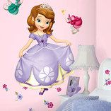 Sofia the First Peel & Stick Giant Wall Decal Set