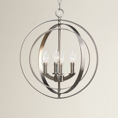 Features:  -Bulbs not included.  -Dry location listed.  -UL-CUL listed.  Product Type: -Candle-Style chandelier.  Material: -Metal.  Number of Lights: -4.  Wattage: -60 Watts.  Bulb Type: -Incandescen