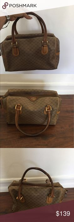 Vintage Gucci Vintage authentic Gucci bag. Scuffs on the corners as shown on the pics. This is a vintage authentic. Price reflect condition. Please don't low ball as it's already very low. Gucci Bags Shoulder Bags