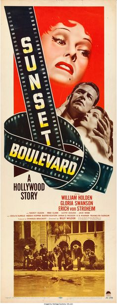 "Sunset Boulevard (Paramount, 1950). Insert (14"" X 36"").. ... Movie 