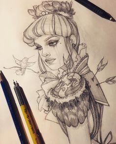 WIM Enjoyed and Liked on instagram from glenn_arthur_art: Cleaned up this concept sketch. I can't wait to turn her into a painting! #WIP #Sketch #GlennArthurArt by glenn_arthur_art