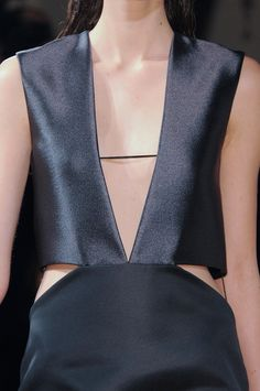 Genny Fall 2013 open v neck with slits