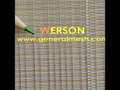 generalmesh  Architectural Woven Wire Mesh for glass decoration ,many we...