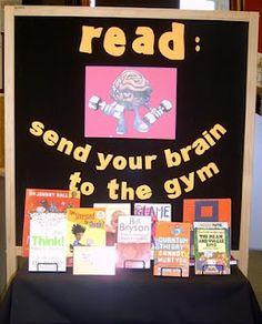 Library Displays: send ur brain 2 the gym