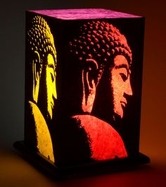 Multicoloured Handcrafted Printed Paper Lamp=Shady Ideas $ 39