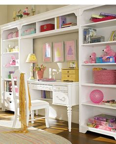 Instead of Desk...would be TV with storage below and or this is a great idea for future mudroom