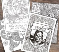 Free Star Wars Coloring Pages - perfect for adult coloring stress relievers