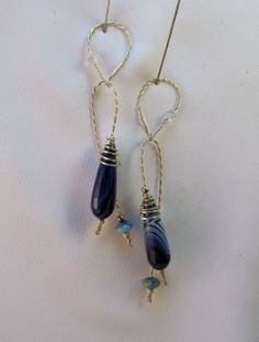 Blue Agate and Stirling Silver
