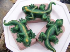 Great Leapin Lizards Handcrafted Soap by TreasureGardens on Etsy, $4.50