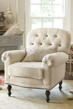 Provence Matelasse Chair - Bedroom Chair, Comfy Armchair, Down Cushion Chair   Soft Surroundings