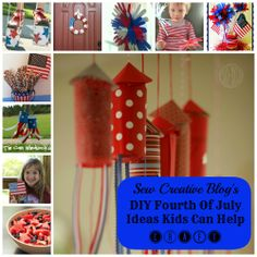 10 DIY Fourth Of July Ideas Kids Can Help Craft