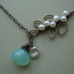 Chalcedony and Pearls