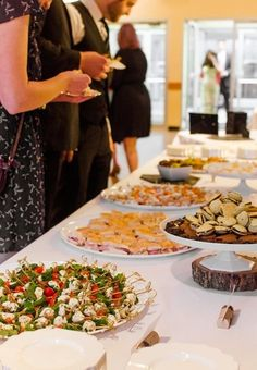 Planning a wedding reception with finger foods can be a difficult