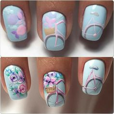 Looking for easy nail art ideas for short nails? Look no further here are are quick and easy nail art ideas for short nails. Spring Nail Art, Spring Nails, Summer Nails, Cute Nails, Pretty Nails, My Nails, Popular Nail Designs, Nail Art Designs, Popular Nail Art