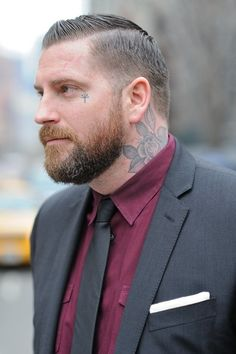 tattoo - cool fashion style inked chicquero suit men