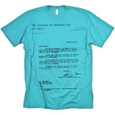 Andy Warhol MoMa Rejection Letter T-shirt