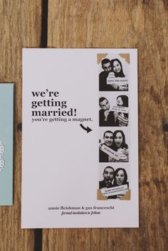 Awesome save the date idea.. cute <3| i'd use drink coasters instead of magnets (or maybe magnetic drink coasters).