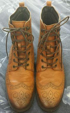 Men's Johnston & Murphy Brown Leather Lace-up Boots 9.5 M E 13  #JohnstonMurphy #