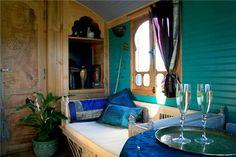Gypsy caravans in Scotland Gypsy Wagon Interior, Mini Travel Trailers, Gypsy Home, Gypsy Living, Trailer Interior, Gypsy Caravan, Unusual Homes, House On Wheels, Caravans
