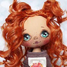 Пусть еще будет портретик🙈 #кукла #куколка #куклаизткани #куклаолли #олли