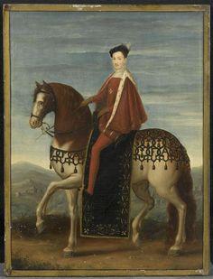 Henri III as  boy  equestrian portrait PHOTO RMN