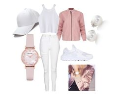 """""""Soft Ash"""" by cooldoperad on Polyvore featuring Emporio Armani, Mikimoto, Helmut Lang, Topshop and NIKE"""