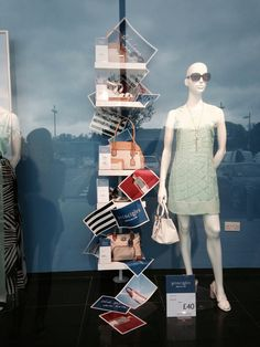 Debenhams Accessories for principles window SS14 window Orpington #sandals #bags #pastels #postcards #holiday wardrobe