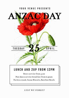 The Aussie Lineup Australia Day Event Promotion Template - Easil Anzac Day, Australia Day, Cultural Events, Diy Design, Design Ideas, Social Media Graphics, Red Poppies, Event Posters, Graphic Design