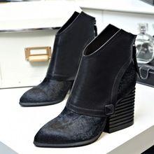 Uone 2015 новинка из натуральной кожи женская обувь осень зима высокого класса женский ботильоны бесплатная доставка Q140826(China (Mainland))