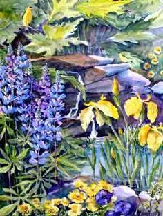 Lupins & Iris | Joy Laking Gallery