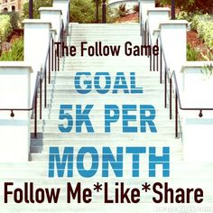 Almost full, 65 more! Don't  forget to follow me  Follow Game    Let me first start off by saying......If you're going to like this listing, it's only fair that you follow through and follow everyone including me and share the listing.   Let's help each other grow our followers. My goal is to have 5,000 followers per month. Please follow me, share and like this listing, follow everyone that's liked this listing and if you can tag fellow Posher's that want to grow their followers. Other