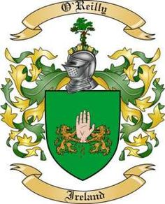 jacobs coat of arms ireland | we do have the o reilly coat of arms family crest from ireland along ...