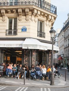I could spend hours sitting at a cafe in Paris, with a glass of wine or a cup of coffee. A cafe in Paris can be Intp, Nairobi, Helsinki, Parisian Cafe, Paris Street Cafe, Paris Travel Guide, Ile Saint Louis, Little Paris, Living In Italy