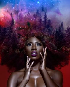 Artist Paints the Universe and Nature into Black Women's Hair  Pierre Jean-Louis is a multimedia artist based in New York and Philadelphia, who has built up quite a social media following as a result of his unique works. Jean-Louis paints mystical images of the universe and nature onto images of Black women's natural hair. His intricate works feature flowers, vines, and even an entire forest, all seamlessly woven into coils and kinks. Jean-Louis even invites his followers to tag him in their…