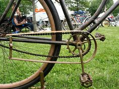 great antique bicycle chain guard