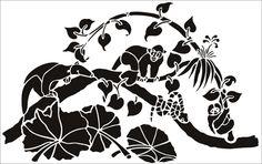 Rain Forest stencil from The Stencil Library GENERAL range. Buy stencils online. Stencil code 233.
