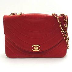 80 ' s ovale unico Vintage CHANEL U cucire la tracolla rosso agnello in pelle classico 2.55 flap catena. Deve avere rara borsa che Francia limitato.