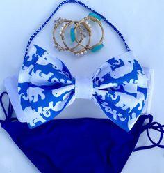 Lilly Pulitzer Blue Tusk in Sun / Bow Bikini