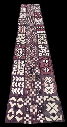 Africa   Skirt ~ ncaka kot ~ from the Kuba people of DR Congo   Raffia, natural dyes   2nd half of the 20th century