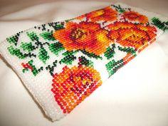 Вязание с бисером. Crochet with beads.